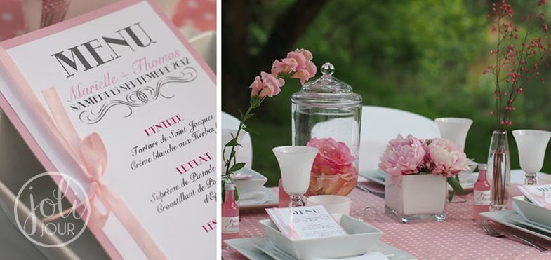 Decorateurs-de-mariage-Poitiers-coordination-jour-j-idee-centre-de-table-fleurs-roses-pales-wedding-planner-Tours-decoratrice-de-mariage-La-Rochelle