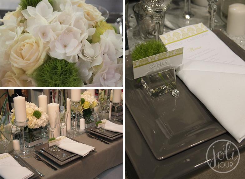 Decoration-organisateur-Salon-du-mariage-Poitiers-Tours-Angouleme-Vert-anis-gris-argent-Fleuriste-Location-housses-de-chaise