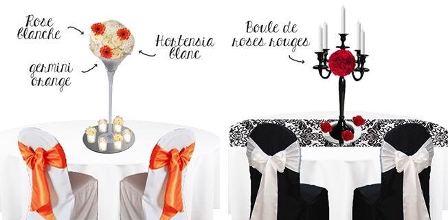 Croquis-schema-decoration-florale-vase-martini-orange-et-decor-de-mariage-noir-chandelier-baroque-et-fleurs-rouge-bordeaux