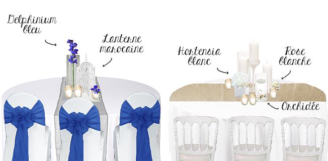 Croquis-schema-decoration-table-de-mariage-nature-bougies-lin-taupe-idees-deco-oriental-bleu-nuit-lanterne-marocaine
