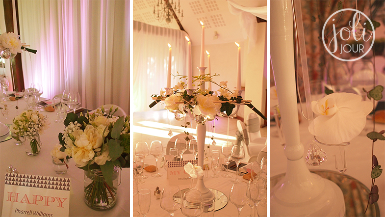 Location chandeliers decoration mariage chandeliers blancs gris argent theme orchidee