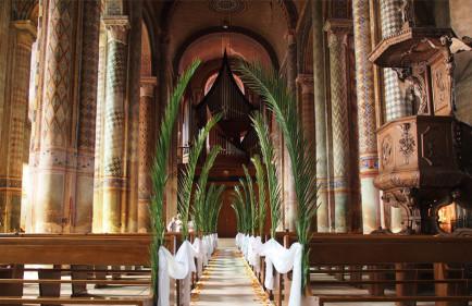decoration-eglise-mariage-tropical-exotique-palmier-africain