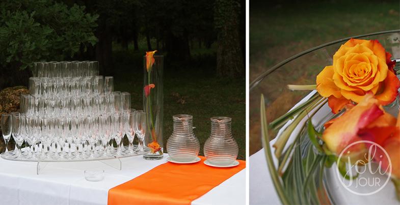 Decoration-de-mariage-Chateau-de-Perigny-vouille-avis-Poitiers-Decoration-de-cocktail-vin-d-honneur-Organisation-de-mariage