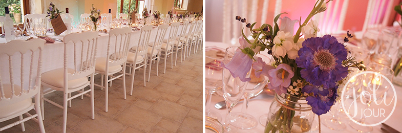 Location-chaises-napoleon-3-blanches-mariage-seminaires-poitiers-futuroscope-niort-tours-bordeaux-decoration-florale-violet-centre-de-table-mauve-parme-lilas-vintage-shabby-chic